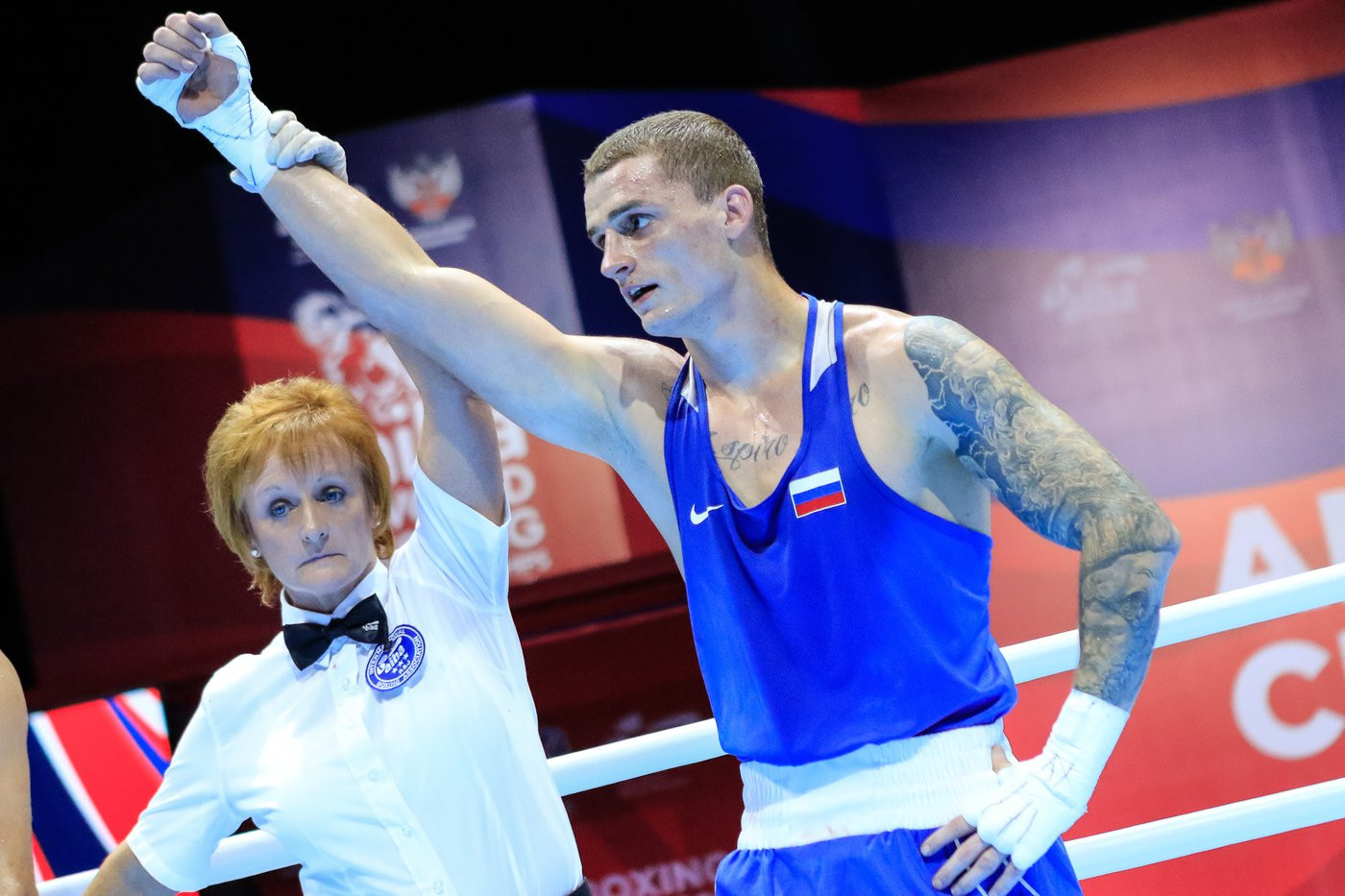Russian boxers delighted the home crowd at the AIBA World Championships ©Yekaterinburg 2019