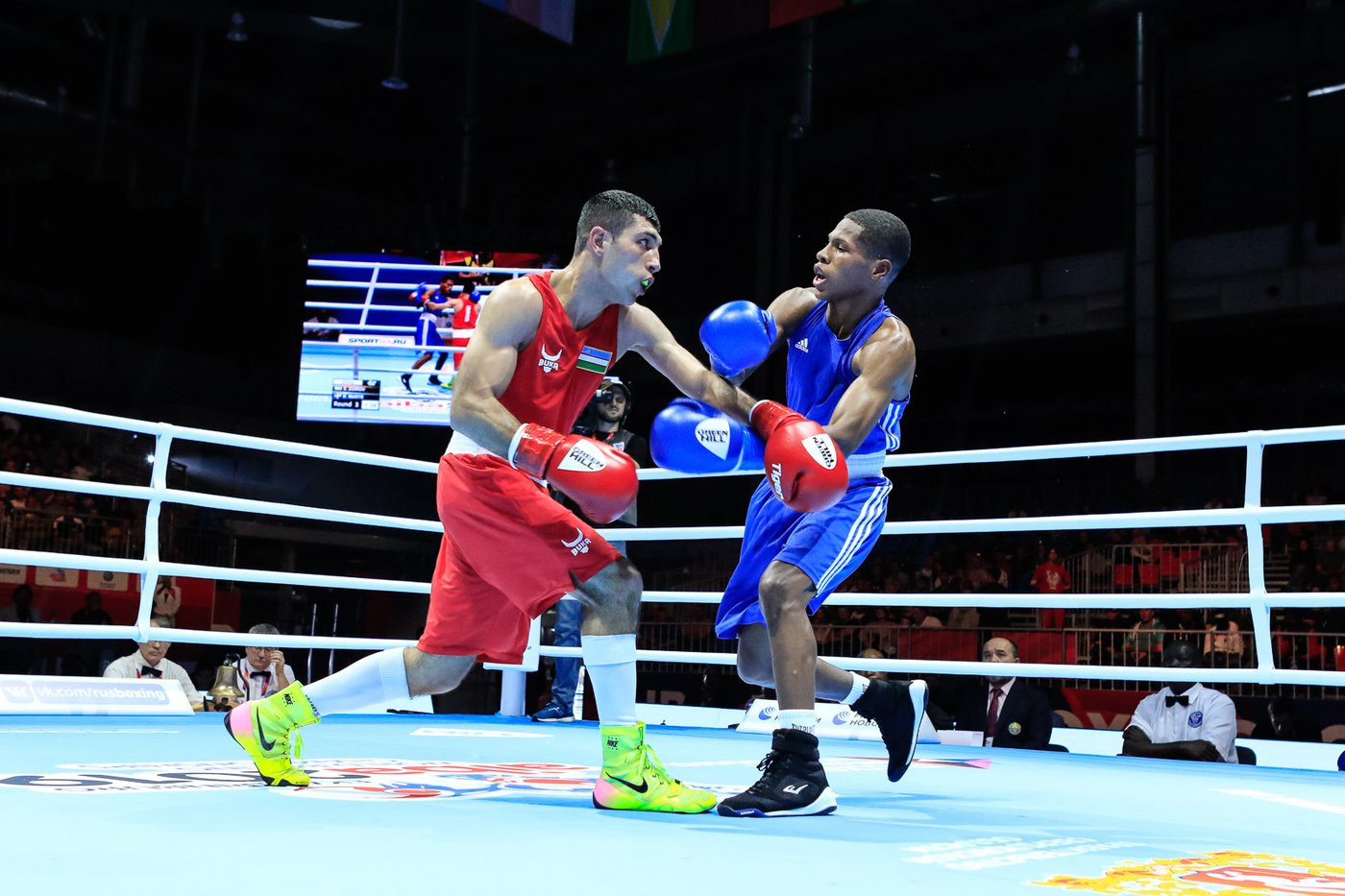 Olympic champion Shakhobidin Zoirov of Uzbekistan then knocked Rodrigo Marte of Dominican Republic out of the competition, securing a unanimous victory to do so ©Yekaterinburg 2019