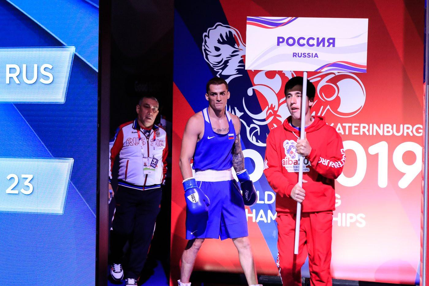 Gleb Bakshi had a middleweight bout against Amin Kushkhov of Azerbaijan ©Yekaterinburg 2019