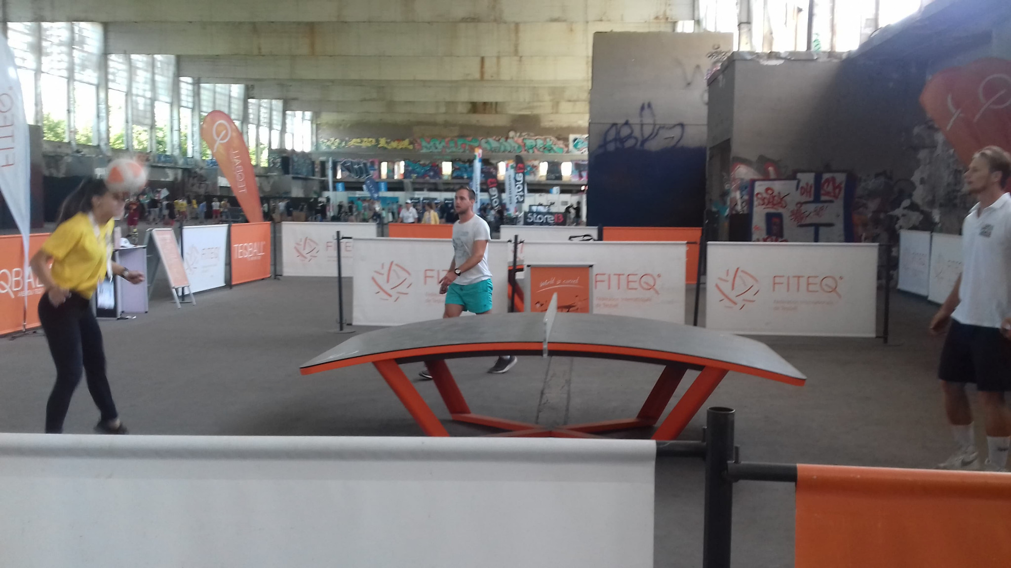 Teqball was demonstrated at the World Urban Games in Budapest ©ITG