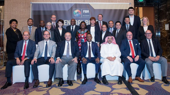 The FIBA Central Board for the 2019-2023 term of office met for the first time in Beijing ©FIBA