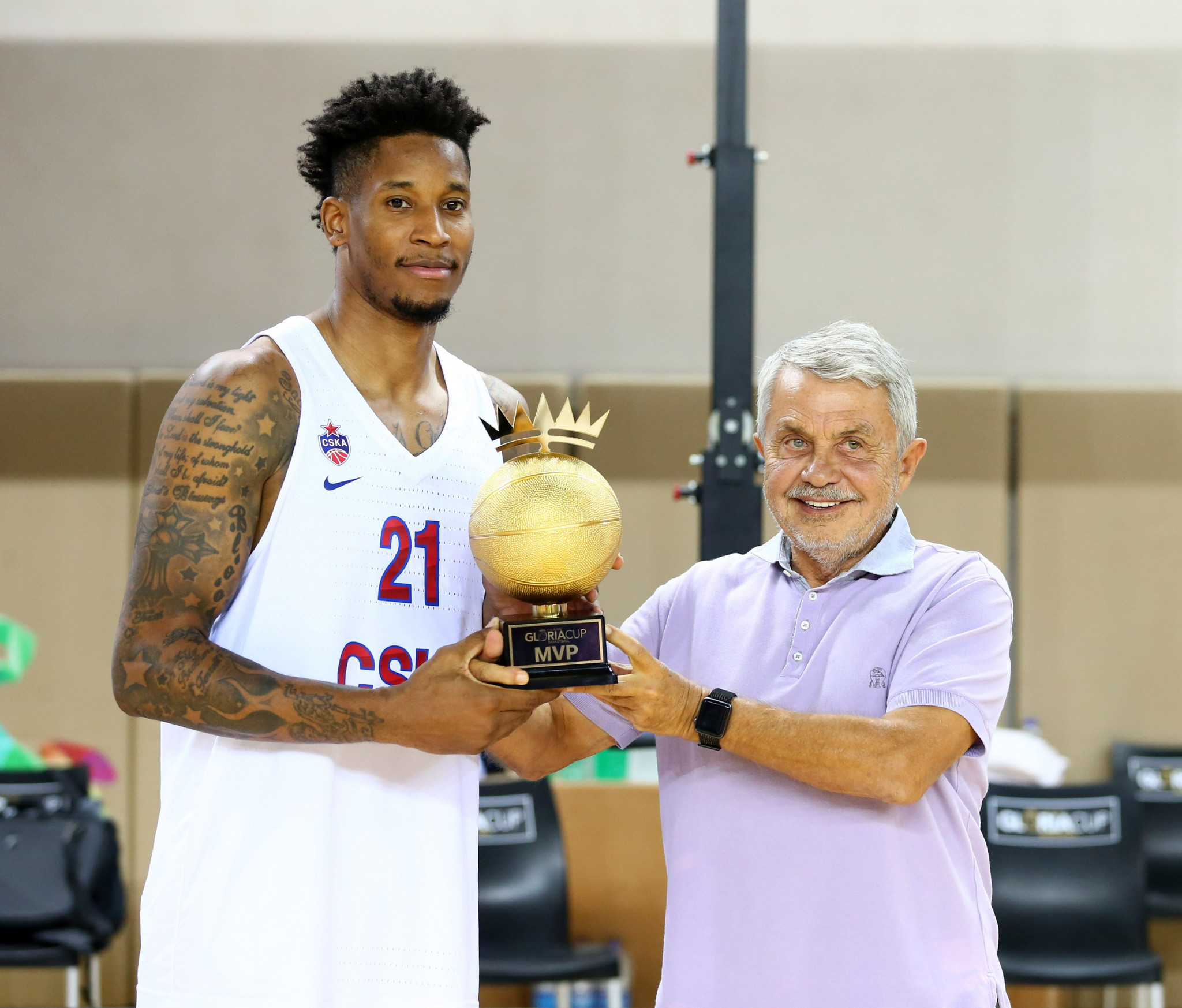 Will Clyburn of CSKA Moscow collected the most valuable player award as his side won the Gloria Cup ©GSA