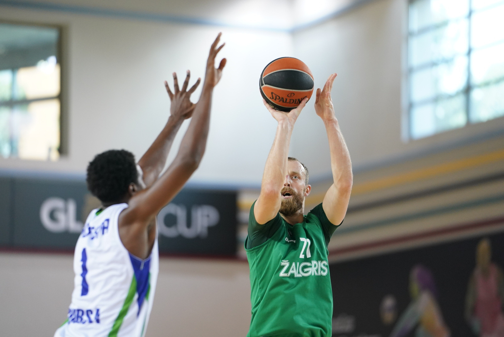 Zalgiris Kaunas captain Arturas Mlaknis scored 24 points as the defending champions finished fifth ©GSA