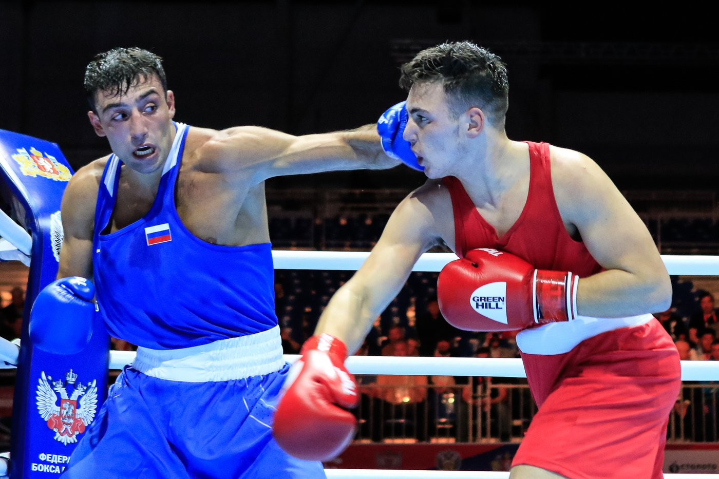 Russia's Georgii Kushitashvili defeated Sammy Lee of Wales ©Yekaterinburg 2019