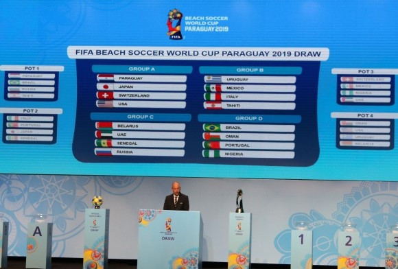 Hosts Paraguay to face Japan in 2019 FIFA Beach Soccer World Cup opener