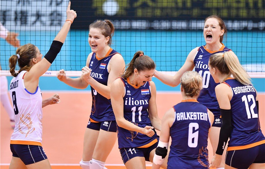 Dutch down Brazil to stay undefeated at FIVB Women's World Cup
