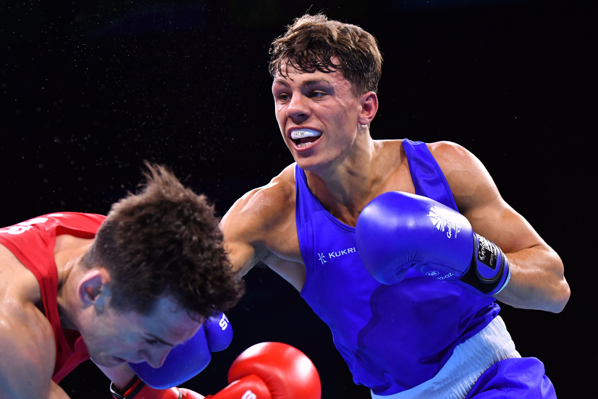 England's Pat McCormack narrowly defeated Aidan Walsh of Ireland in a repeat of the Gold Coast 2018 Commonwealth Games welterweight final ©Getty Images