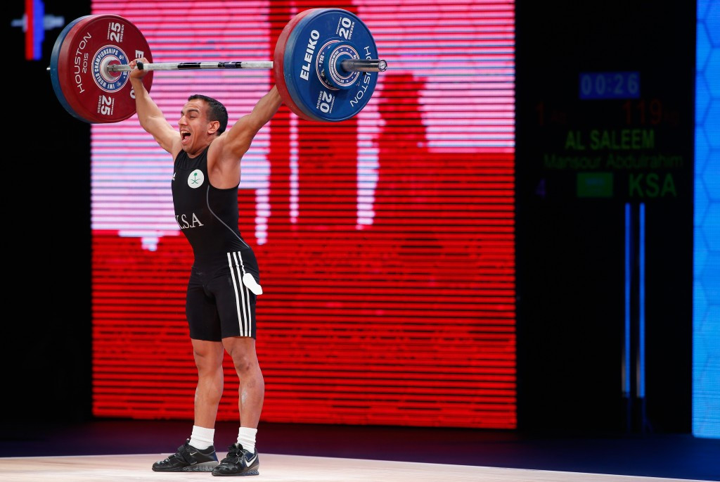 Saudi Arabian lifter makes best impression on opening day of 2015 World Weightlifting Championships