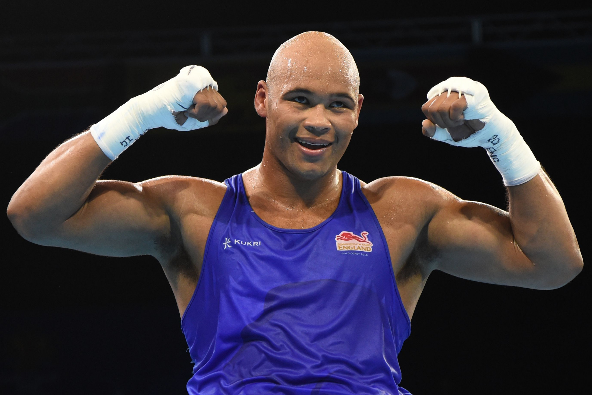 England's Commonwealth Games champion Frazer Clarke won his first bout at the AIBA World Championships ©Getty Images