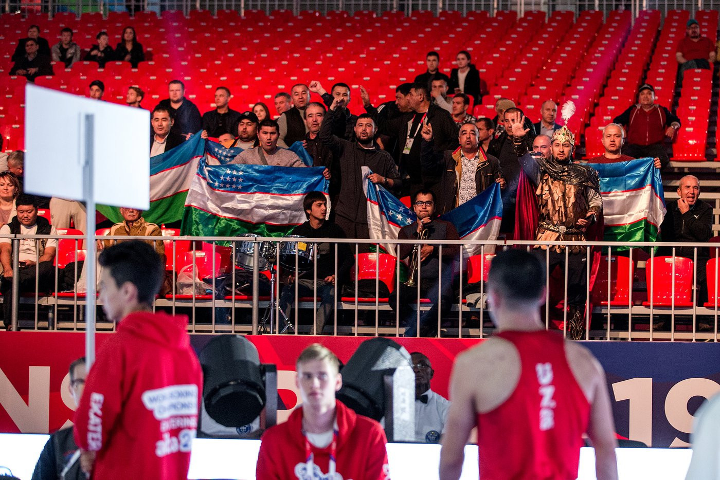 The unanimous result delighted the Uzbekistan support in the venue ©Yekaterinburg 2019