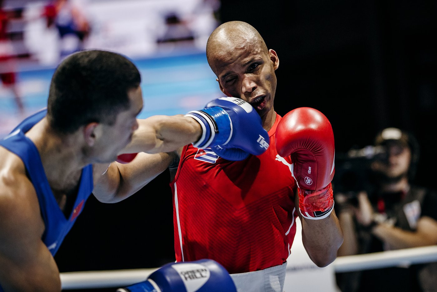 Welterweight top seed Roniel Iglesias of Cuba recorded a unanimous victory at the AIBA World Championships ©Yekaterinburg 2019