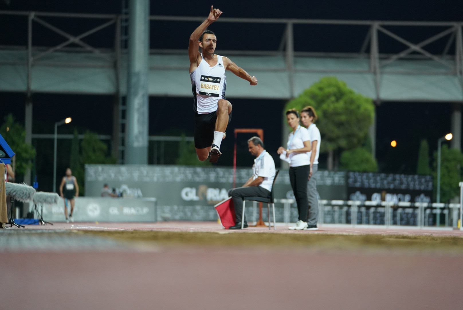 Nazim Babayev from Azerbaijan in action during the men's triple jump ©GSA/ Mine Kasapoglu