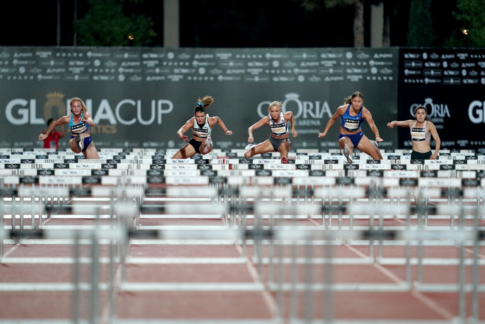 Annimari Korte of Finland claimed the women's 100m hurdles title at the Gloria Cup ©GSA/ Mine Kasapoglu