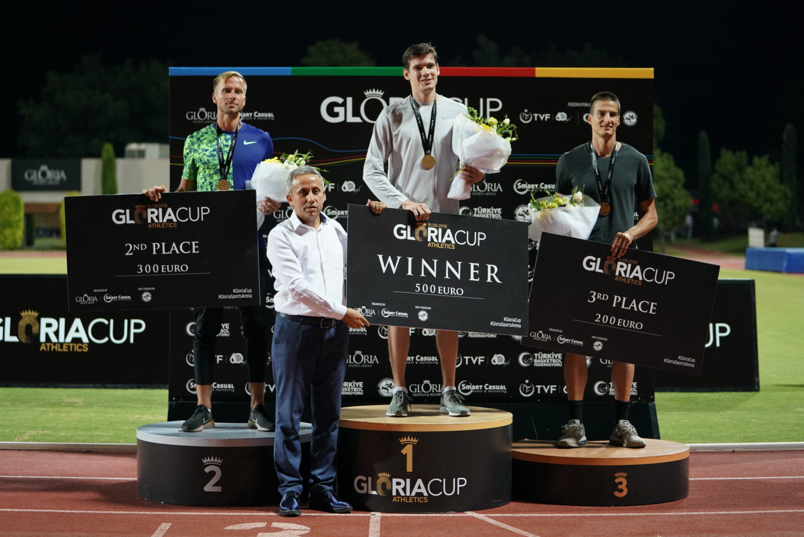 Neutral athlete Timofey Chalyy clinched the men's 400m hurdles gold in Antalya ©GSA/ Mine Kasapoglu