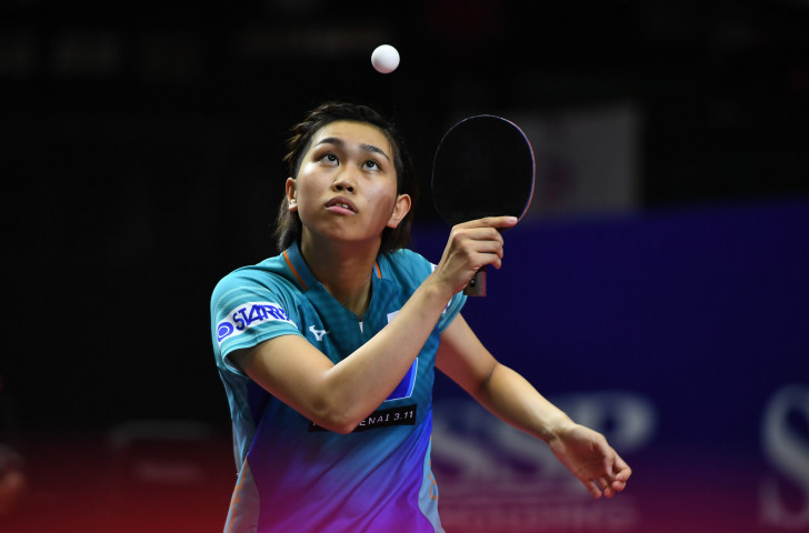 Japan's Hitomi Sato battled hard but could not avoid defeat by Sun Yingsha as China won a seventh consecutive women's team title at the Asian Table Tennis Championships in Indonesia ©Getty Images