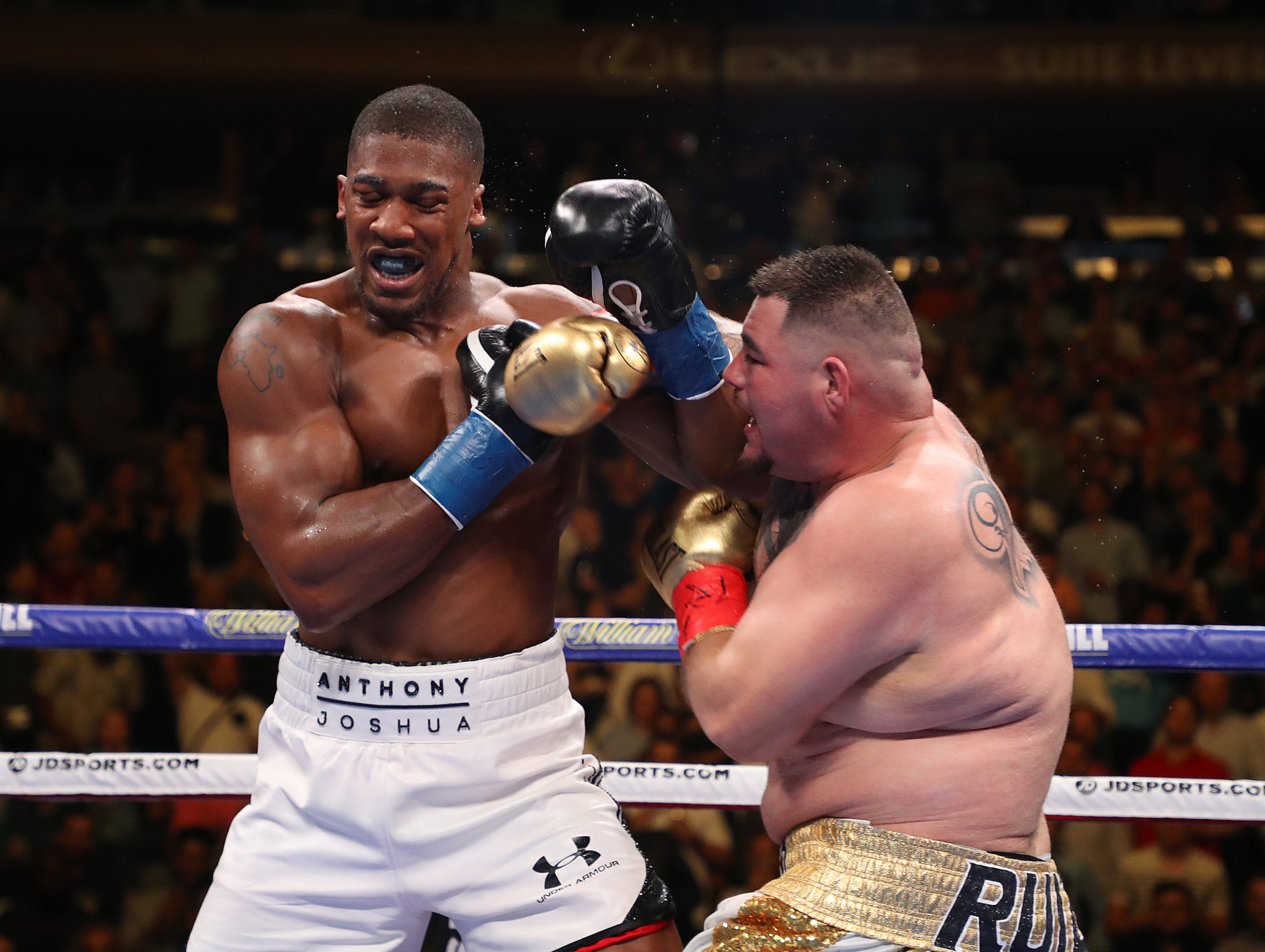 Anthony Joshua reportedly suffered concussion during his fight with Andy Ruiz ©Getty Images