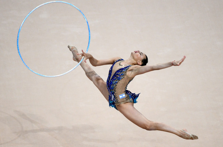 Israel's Linoy Ashram won silver in the hoop and bronze in the ball disciplines as the first medals were won at the Rhythmic Gymnastics World Championships in Baku tonight ©Getty Images