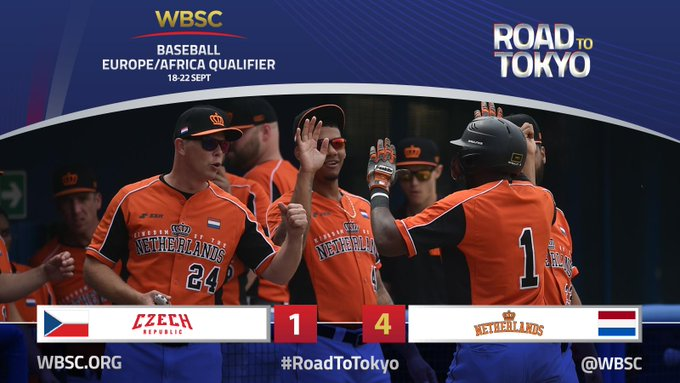 European champions The Netherlands win Tokyo 2020 baseball qualifier opener