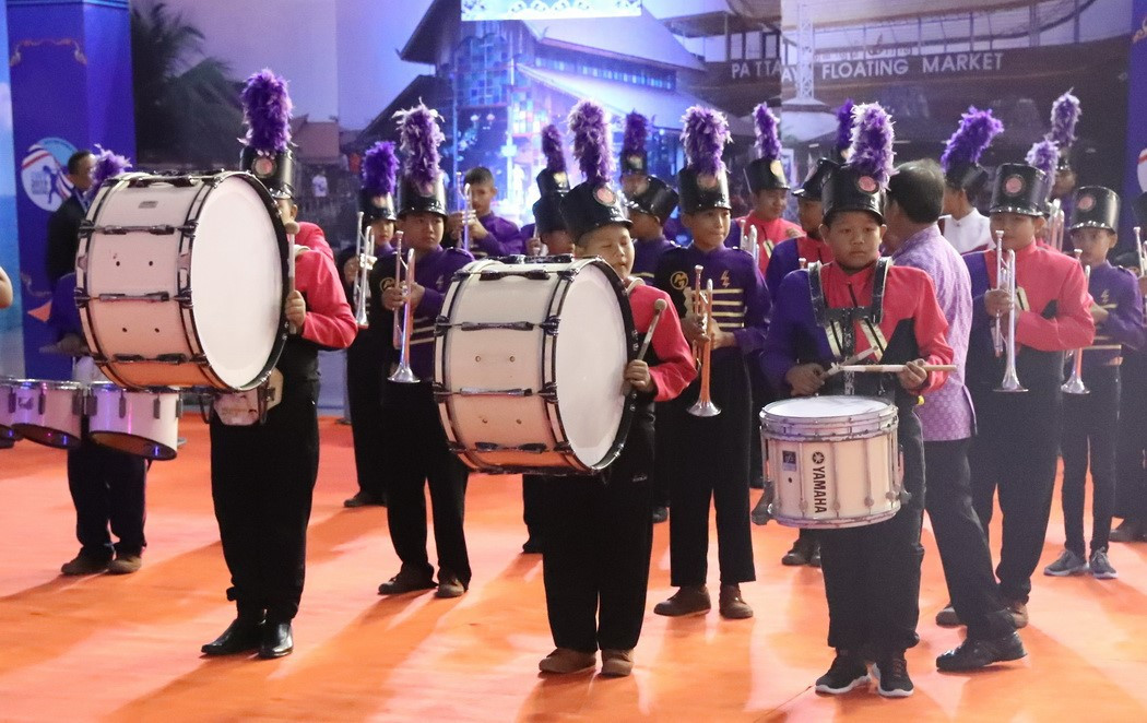 A drum and wind instrument musical performance also featured as part of proceedings ©IWF