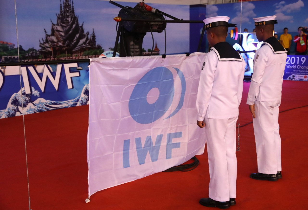 As did the raising of the IWF flag ©IWF