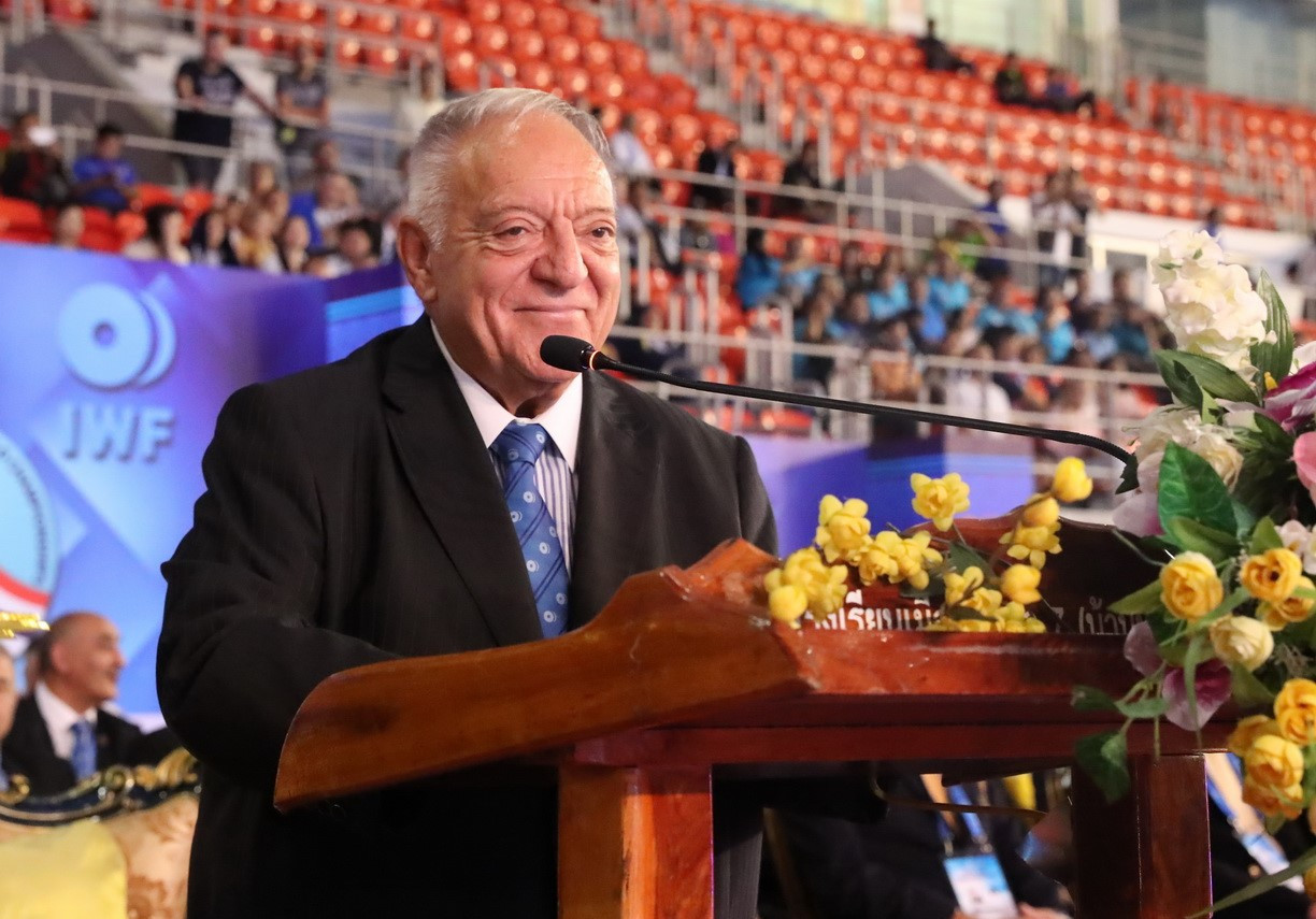 International Weightlifting Federation (IWF) President Tamás Aján officially declared open the 2019 IWF World Championships in Pattaya today ©IWF