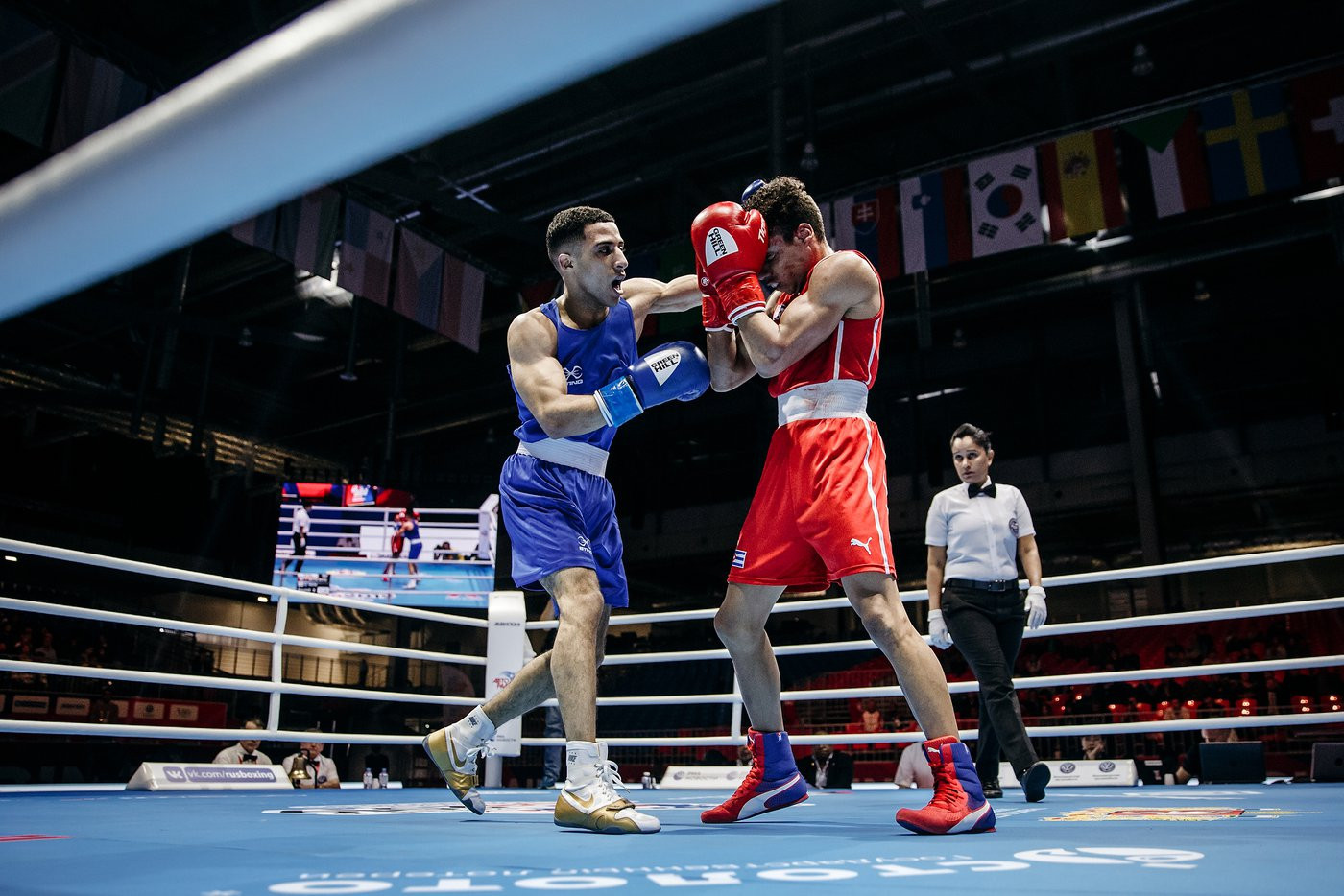 England's Galal Yafai stunned the flyweight top seed and defending champion, Yosvany Veitia of Cuba, recording a unanimous victory ©Yekaterinburg 2019