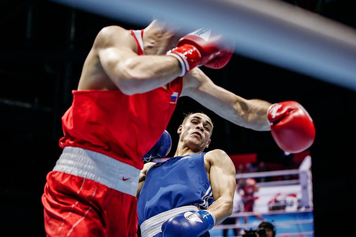 Gadzhimagomedov was taking on David Kieran Nyika of New Zealand ©Yekaterinburg 2019