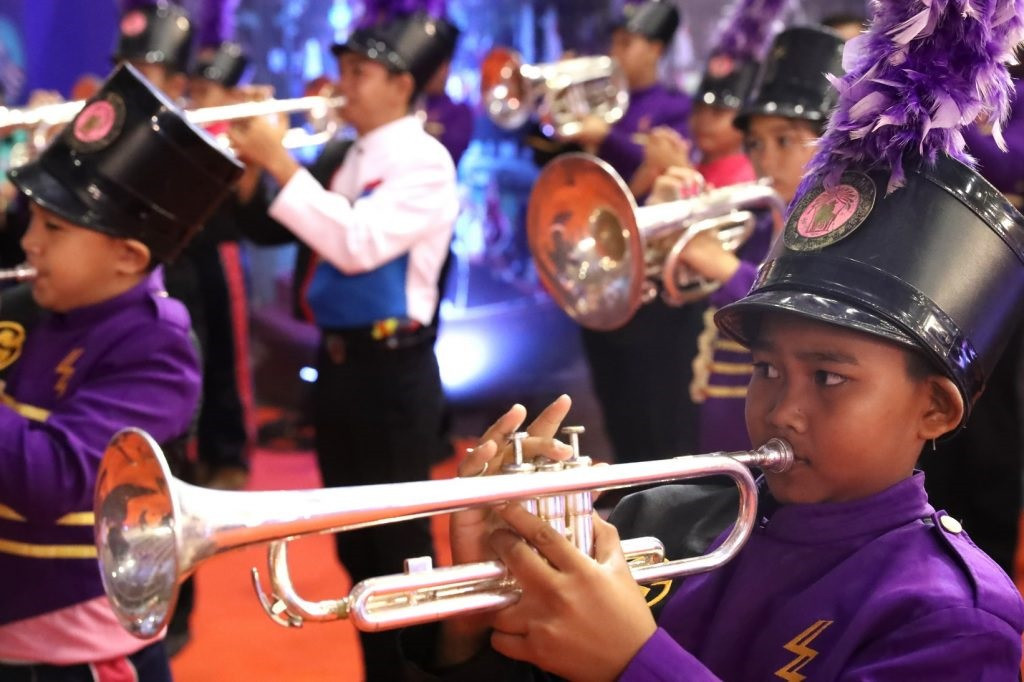 The Opening Ceremony included a drum and wind instrument musical performance ©IWF