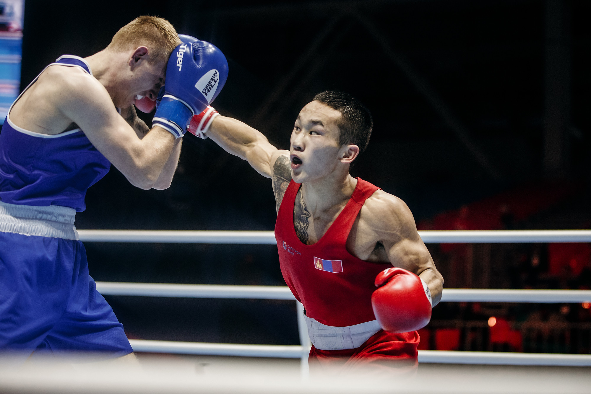 Featherweight Erdenebat too good for Walker at AIBA Men's World Championships