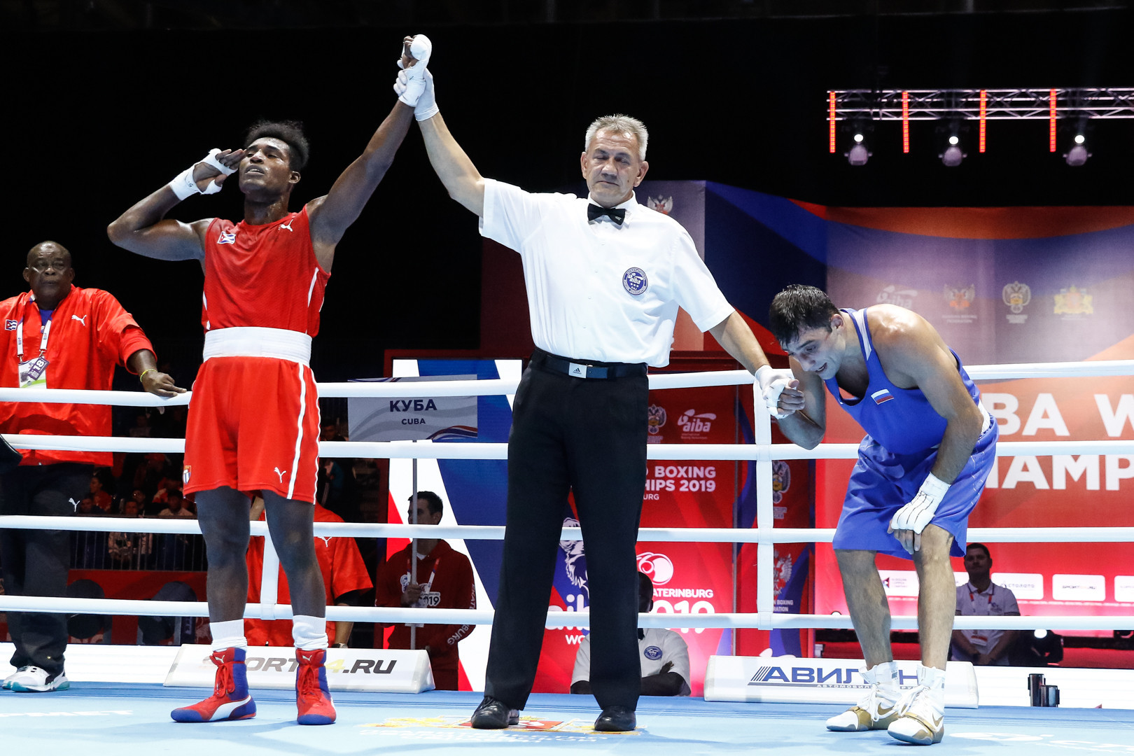 It was the defending champion that was victorious by unanimous decision ©Yekaterinburg 2019