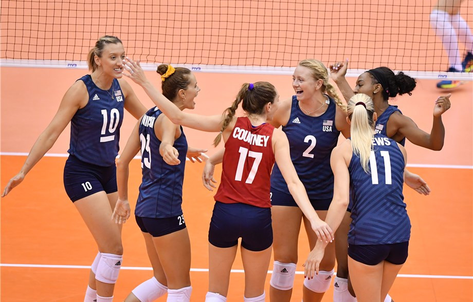 United States kept their fine start going by beating Brazil ©FIVB