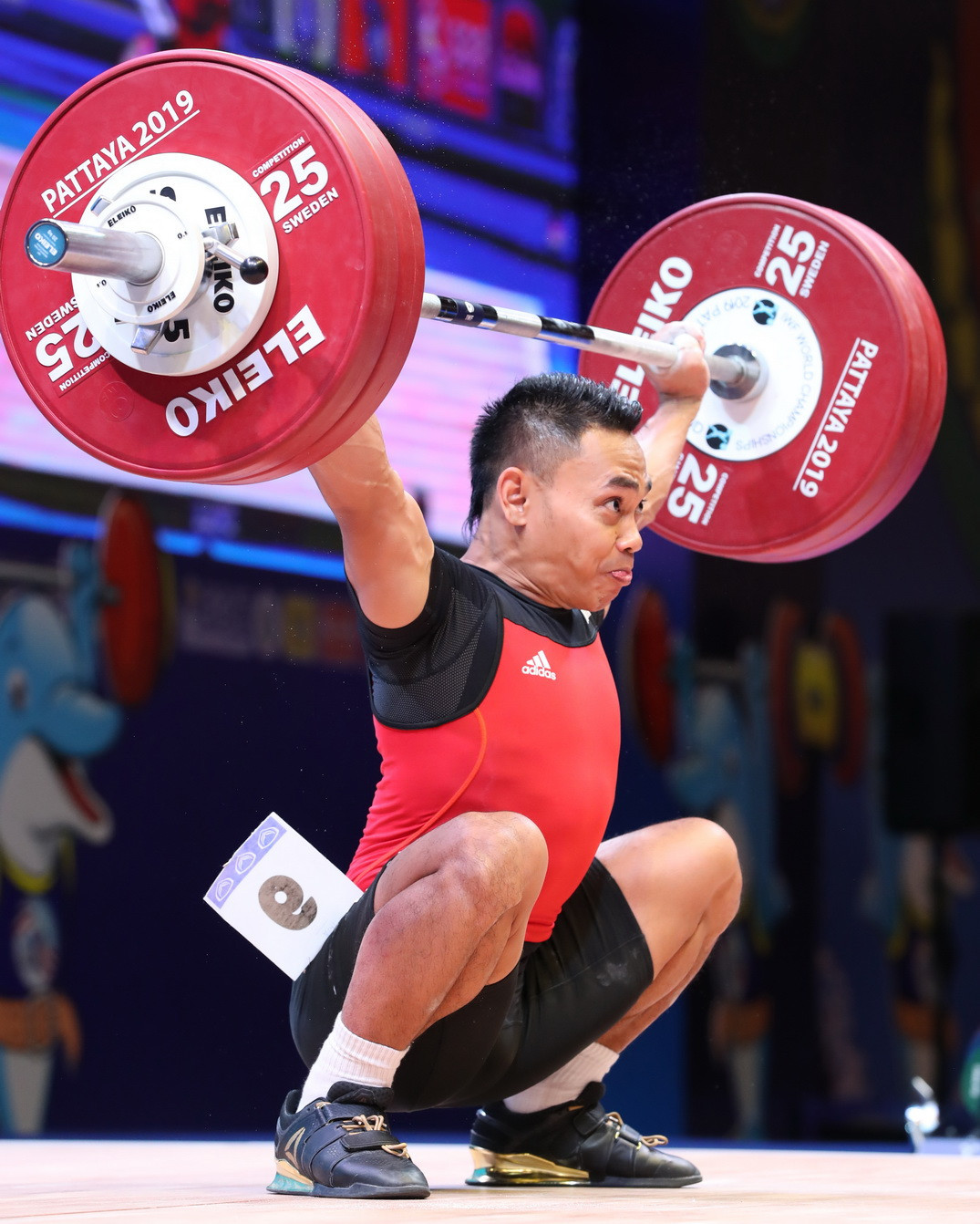 Defending champion Eko Yuli Irawan of Indonesia was the overall runner-up with 306kg ©IWF