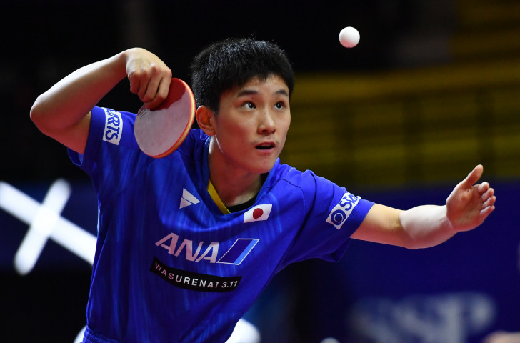 Japanese prodigy Tomokazu Harimoto moved smoothly into the fourth round of the men's singles ©Getty Images