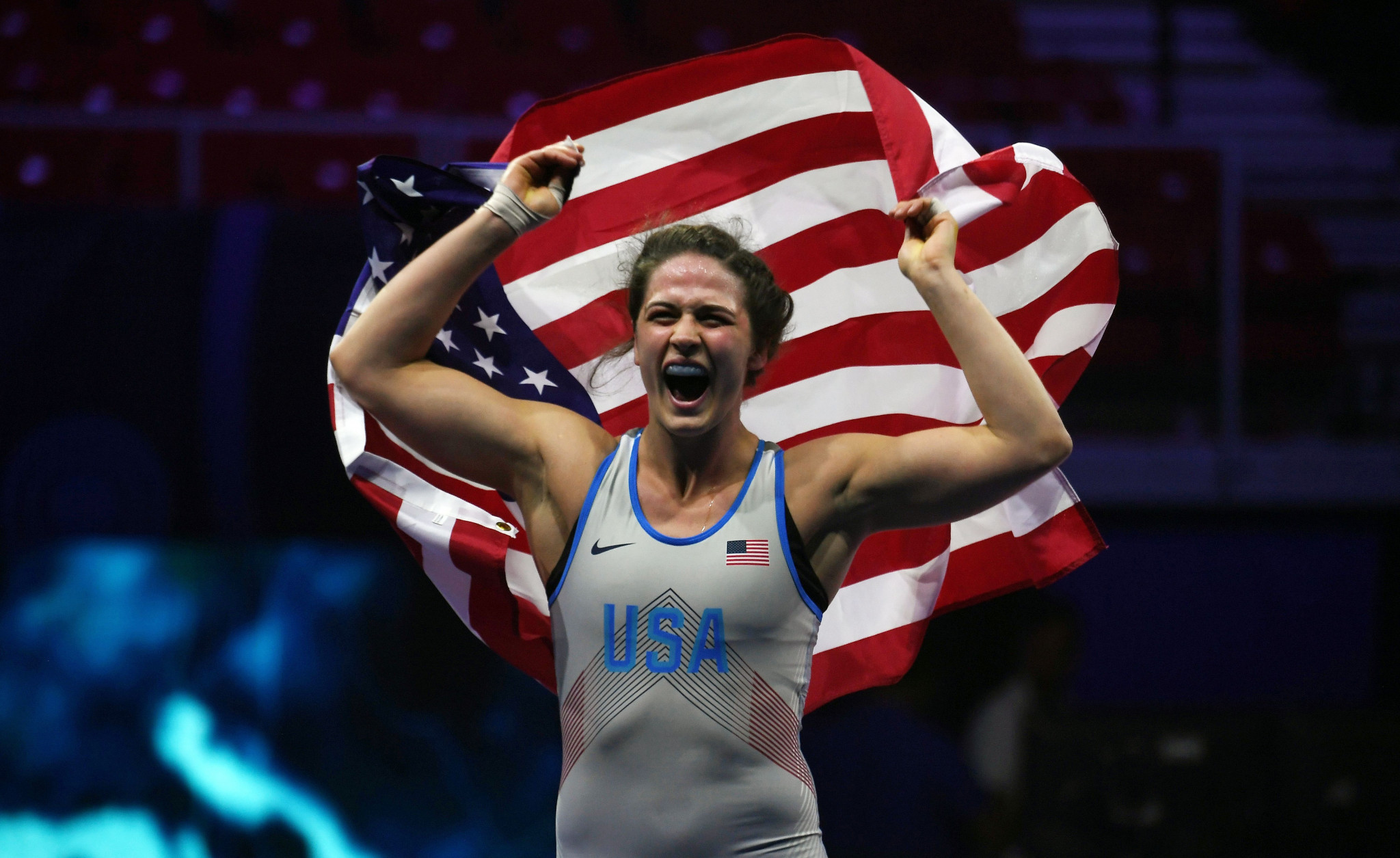 Gray edges Minagawa to earn fifth women's title at World Wrestling Championships