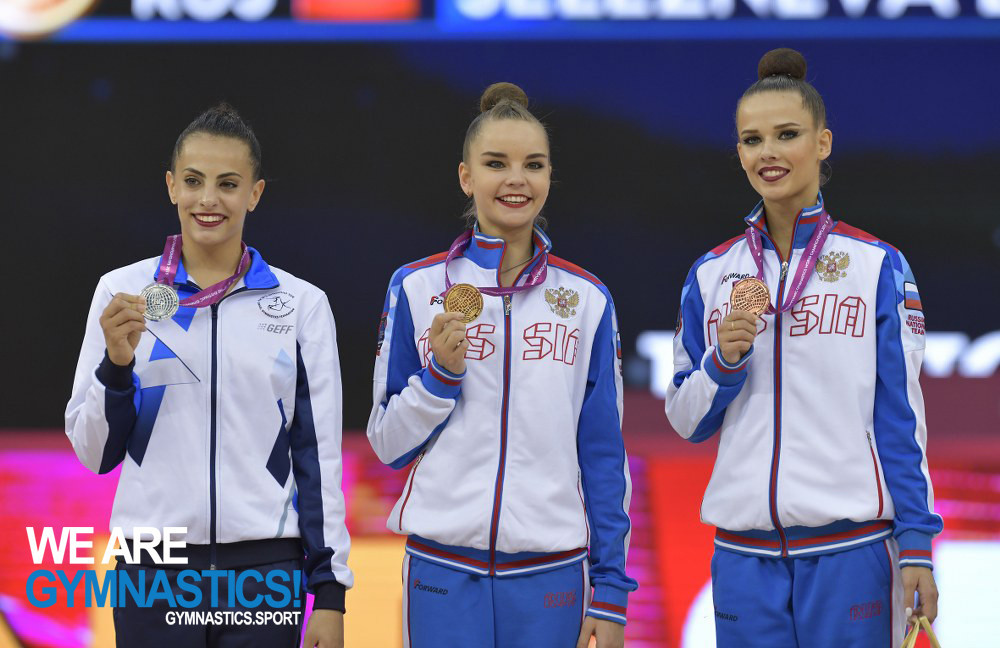 Two more golds for Averina as Russia earn 10th consecutive team title at Rhythmic Gymnastics World Championships