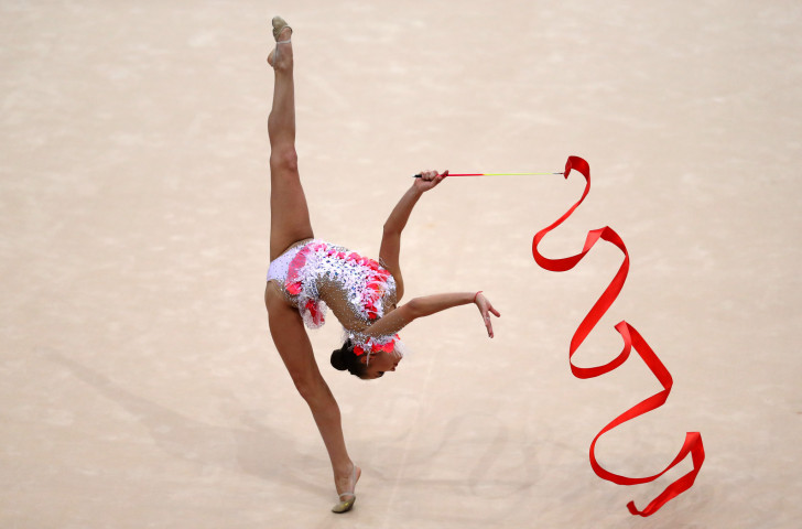 Defending all-around champion Dina Averina won the individual ribbon and clubs events today at the Rhythmic Gymnastics World Championships in Baku as Russia took the team title ©Getty Images