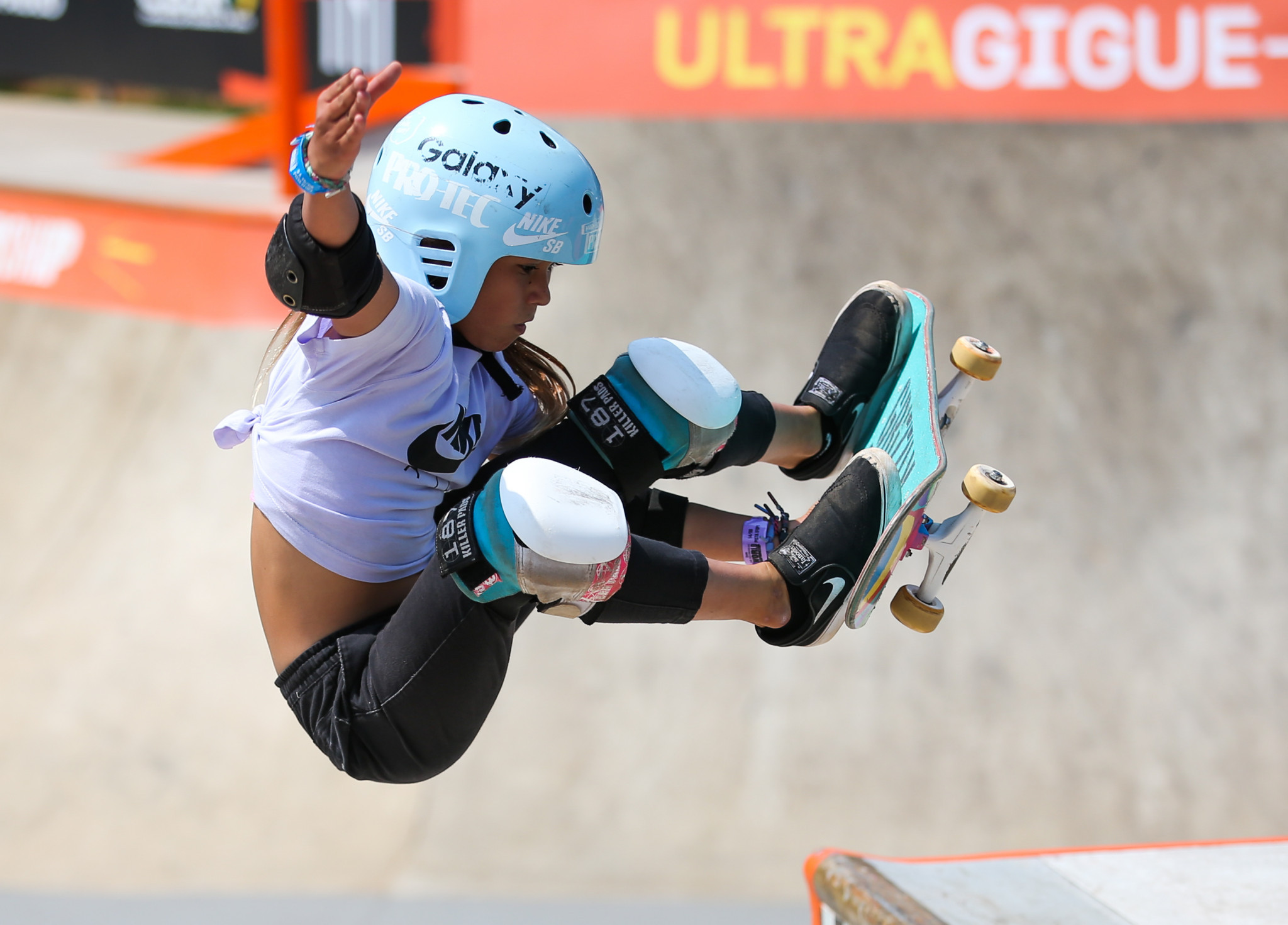 Eleven-year-old skateboard phenomenon Sky Brown is in the British squad ©Getty Images