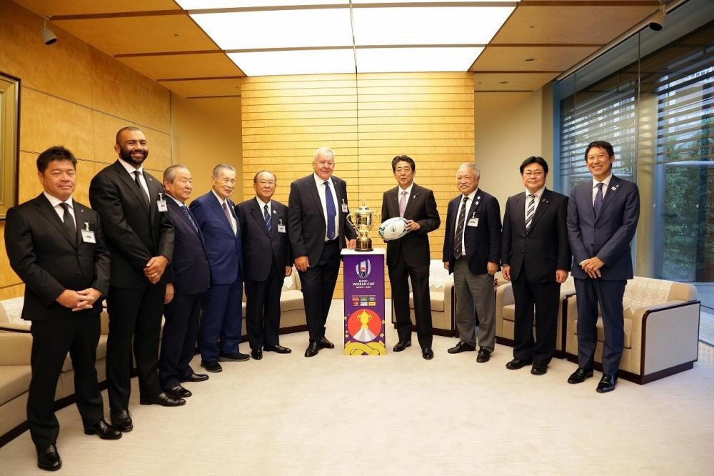 Prime Minister Abe relishing Rugby World Cup legacy