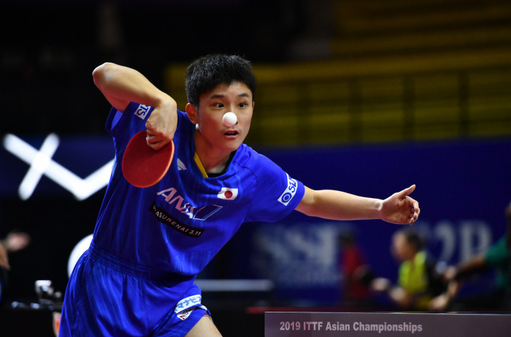 Japan's 16-year-old Tomokazu Harimoto is the only non-Chinese player in the men's singles semi-finals of the Asian Table Tennis Championships in Indonesia ©Getty Images