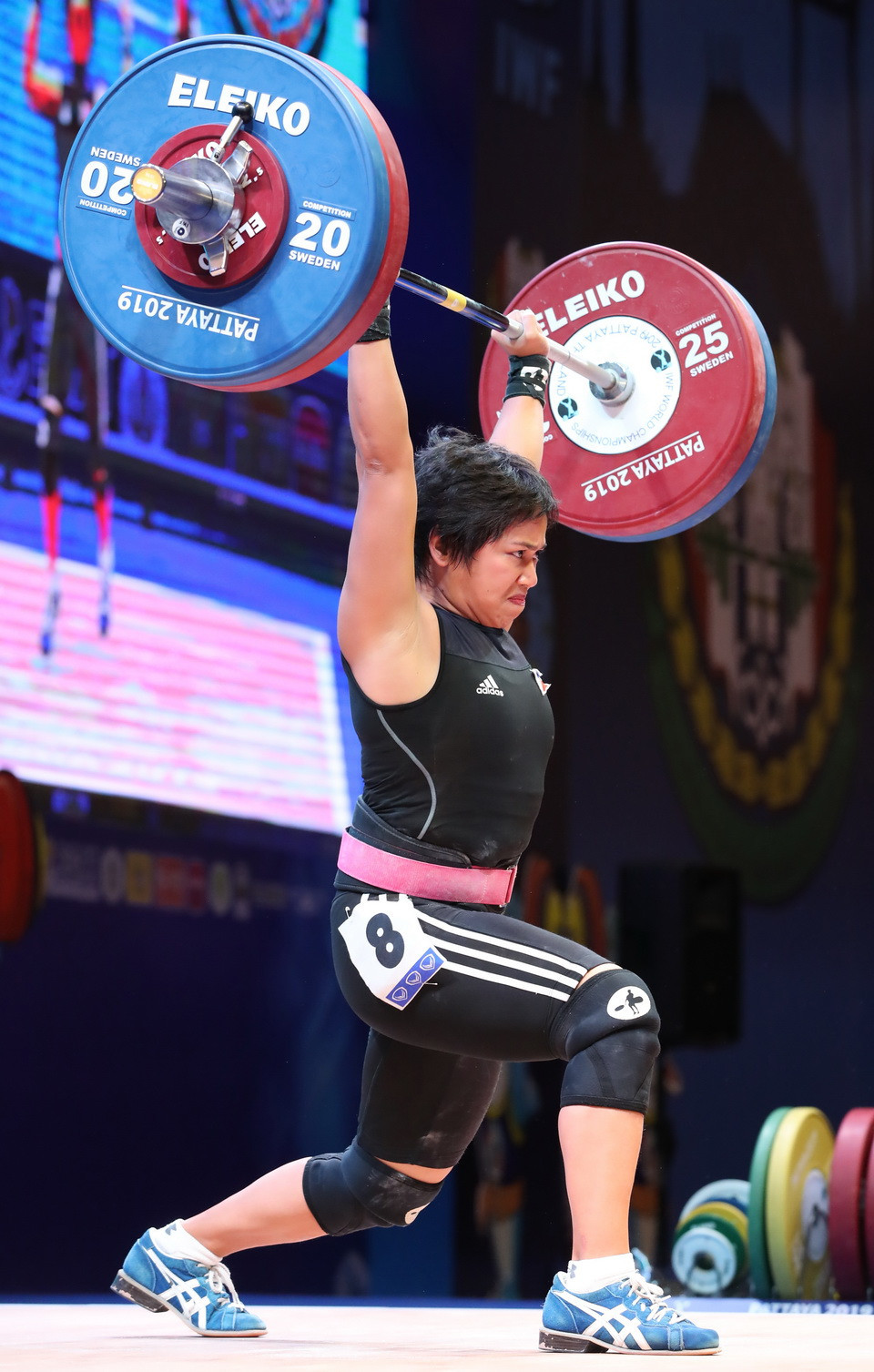 The Philippines' Hidilyn Diaz completed the top three ©IWF