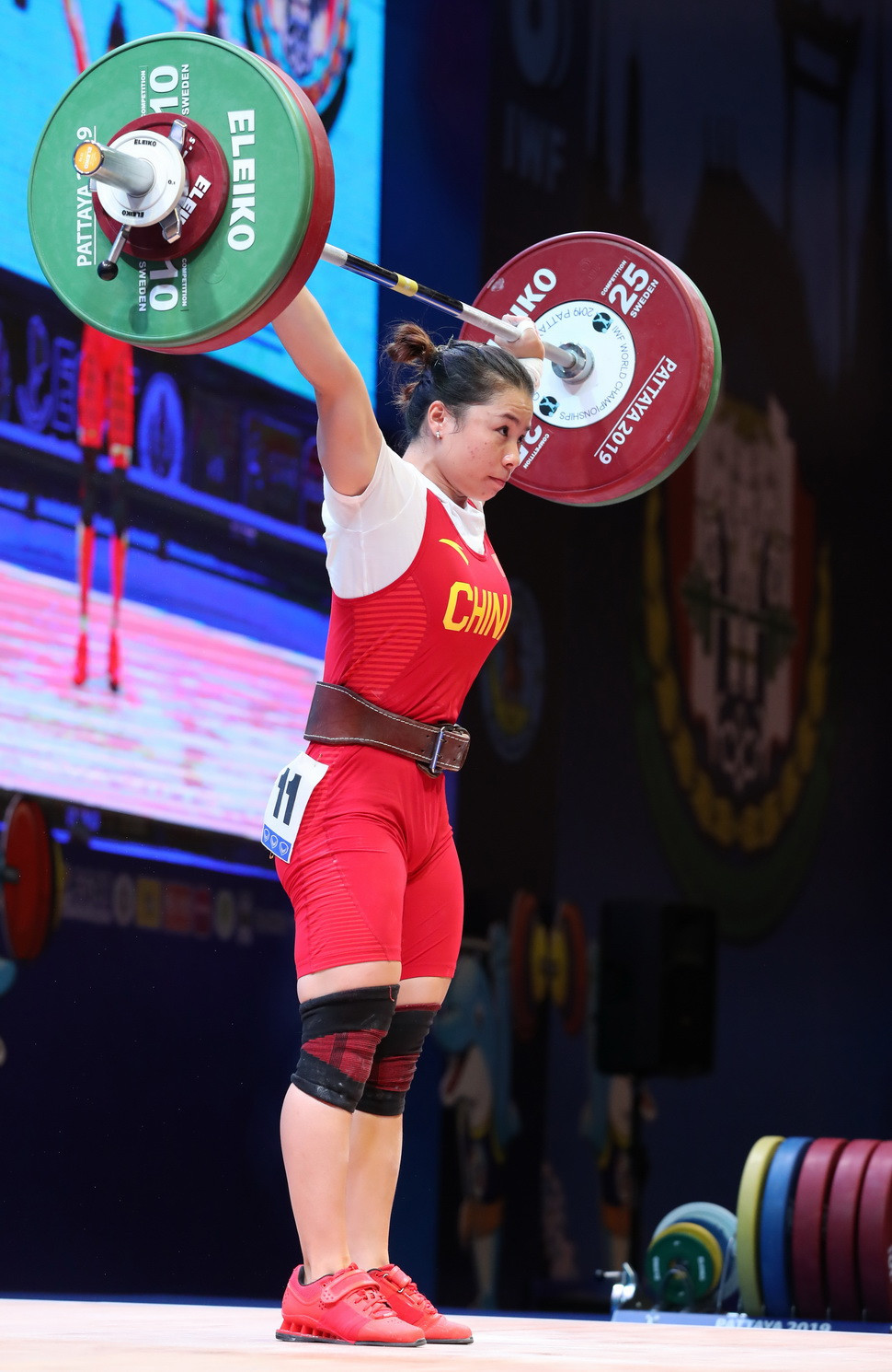 Compatriot Zhang Wanqiong came second in the total ©IWF