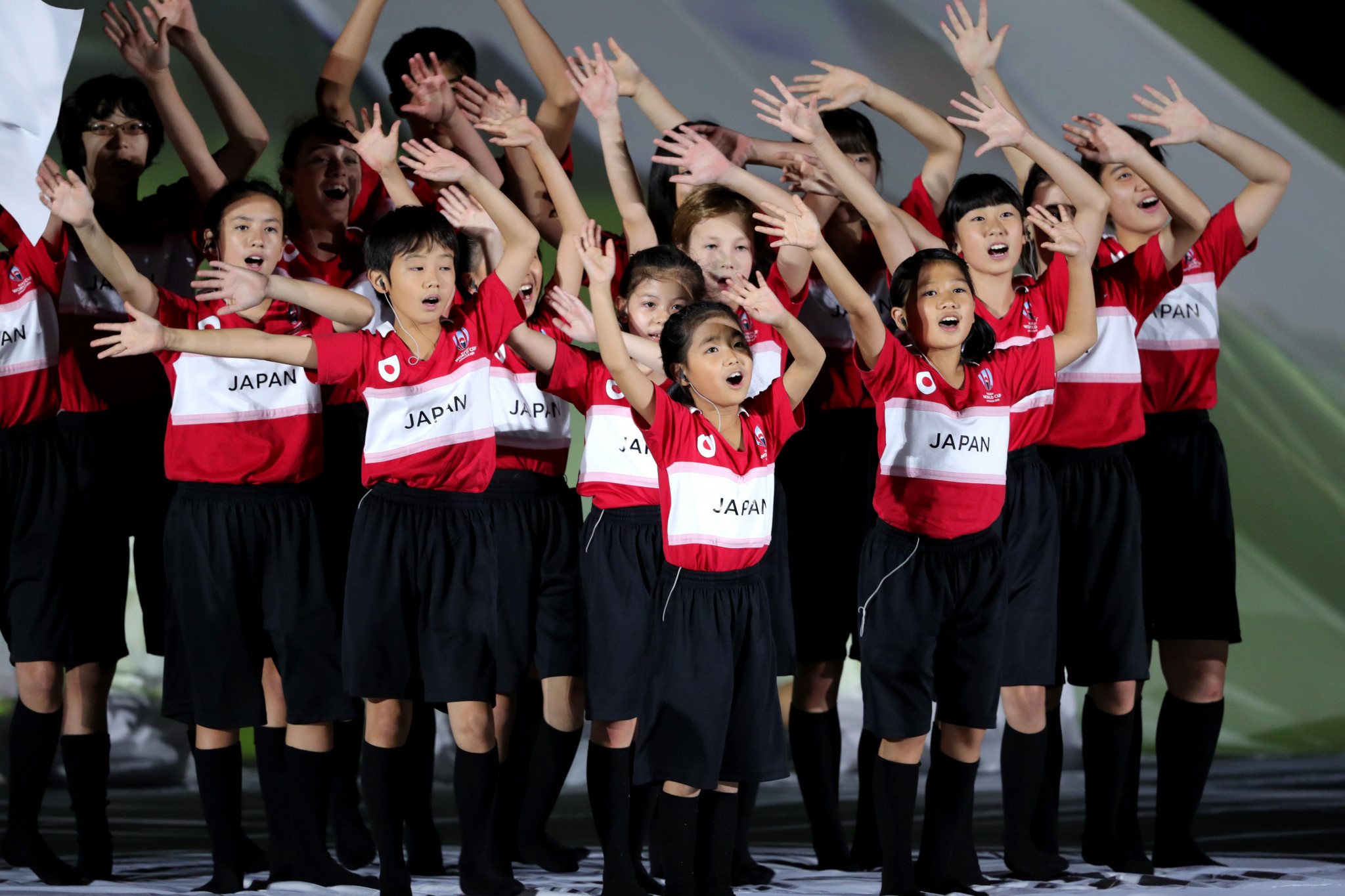 Children sang the World in Union theme ©Getty Images