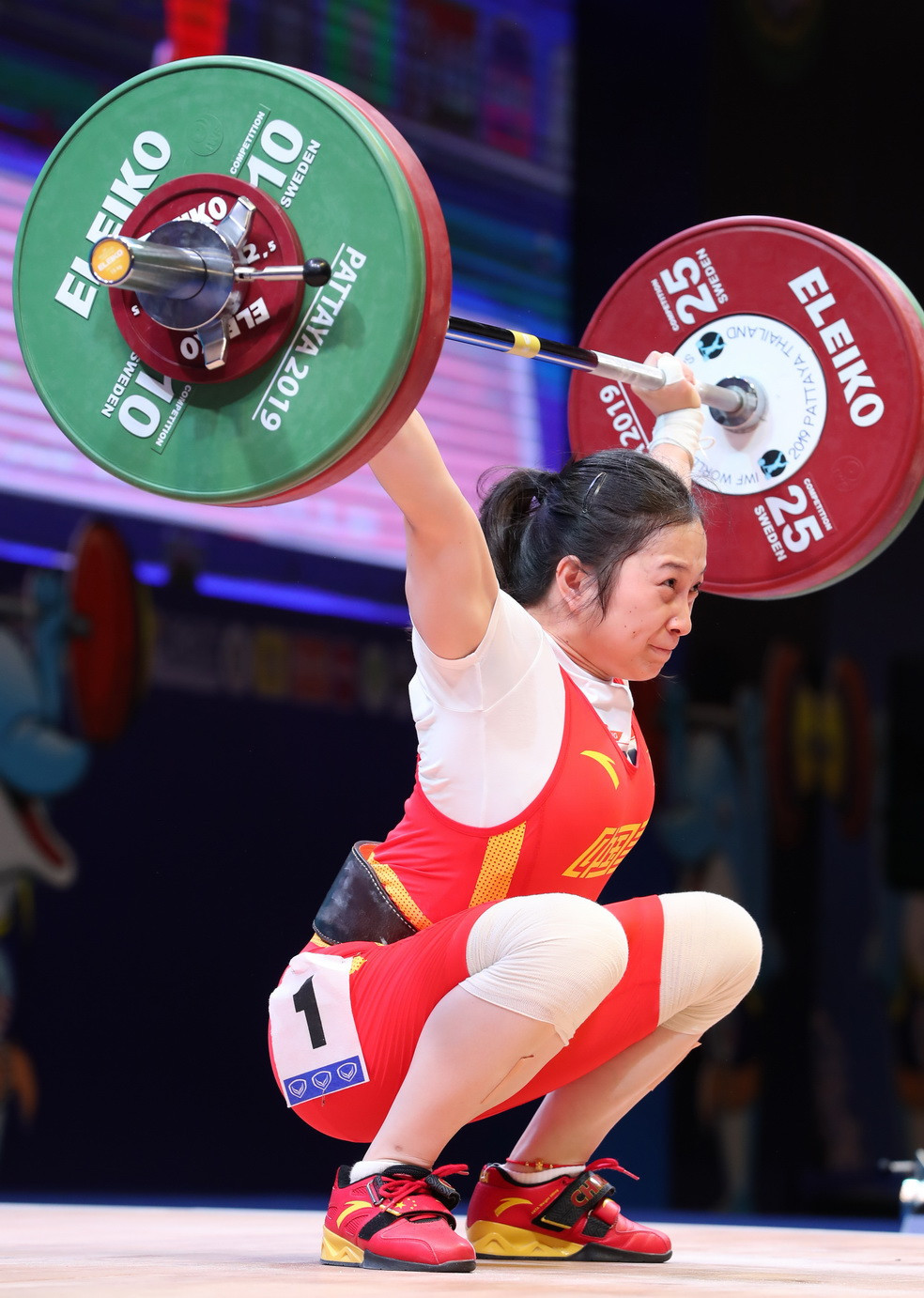 China's Liao Qiuyun came out on top in the women's 55kg event ©IWF