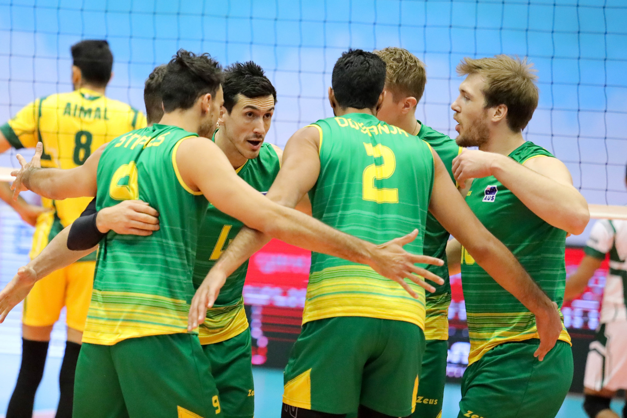 Australia have earned a place in the Asian Men's Volleyball Championship final in Tehran against hosts Iran after defeating the defending champions Japan ©AVC