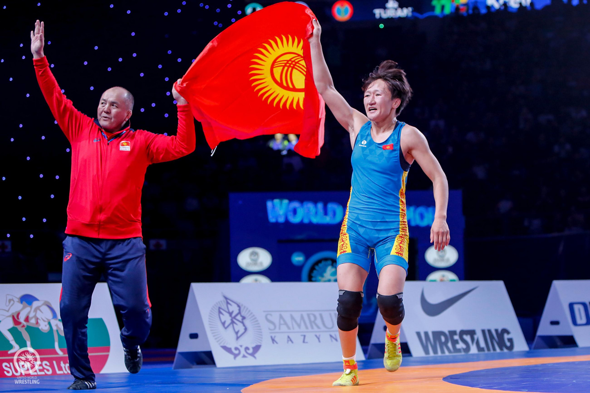 Tynybekova earns first-ever world wrestling gold for Kyrgyzstan