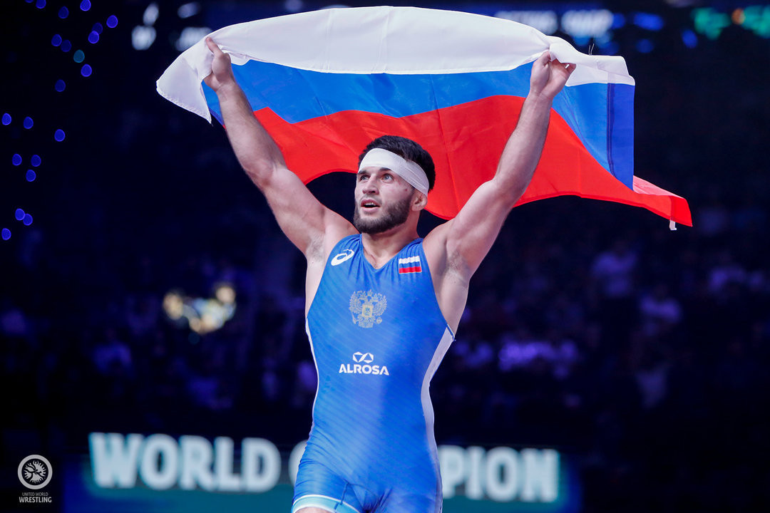 Russia's Gadzhimurad Rashidov won a long-awaited world gold after moving up the weight categories in the freestyle section to 65kg ©UWW