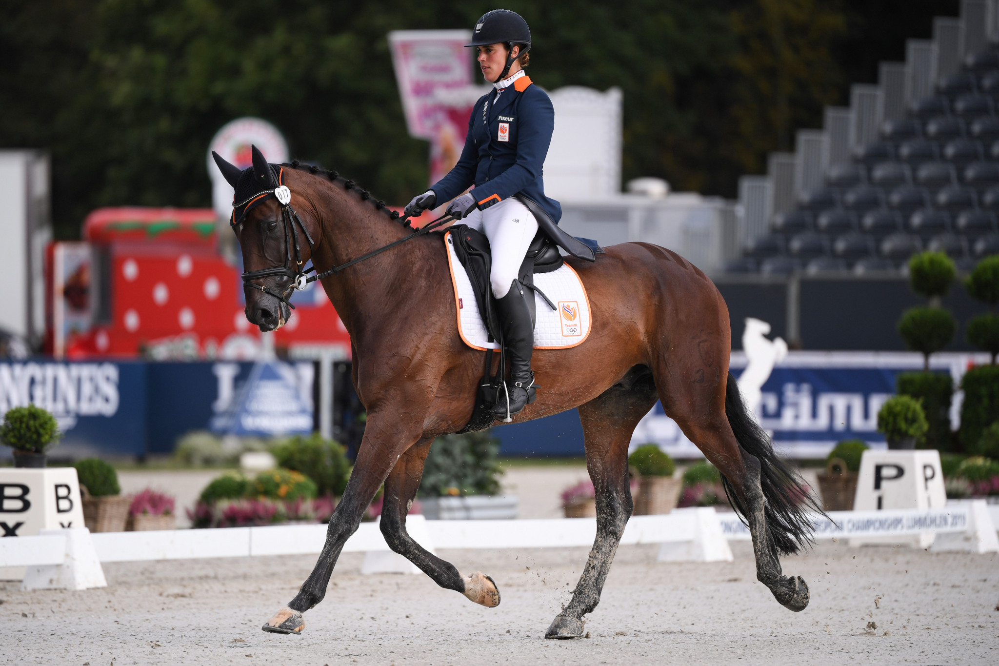 Blom and Redele joint leaders in dressage at FEI Nations Cup Eventing