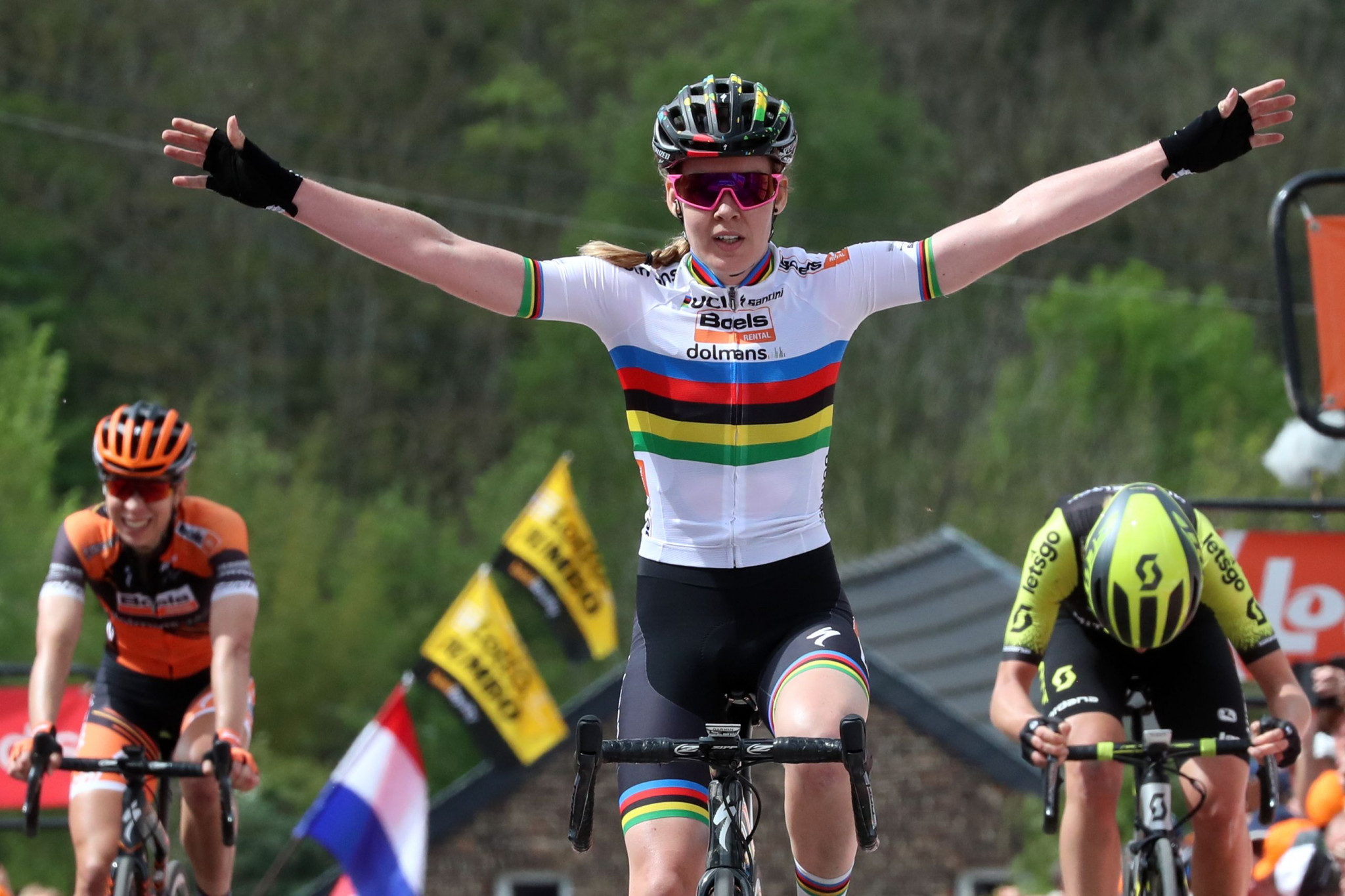 Dutch rider Anna van der Breggen is defending the women's road race crown ©Getty Images