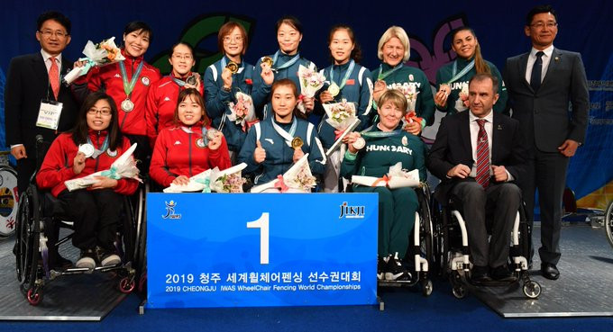 China gold rush at International Wheelchair Fencing Championships