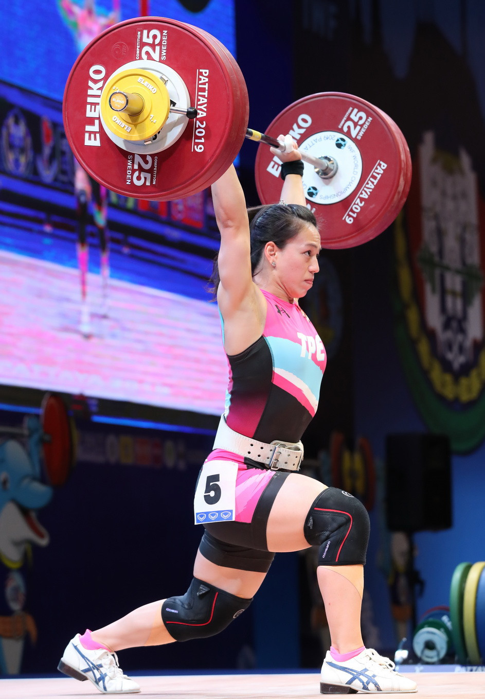 Chinese Taipei's Kuo Hsing-Chun successfully defended her women's 59 kilograms total title having broken two world records just moments after losing them ©IWF